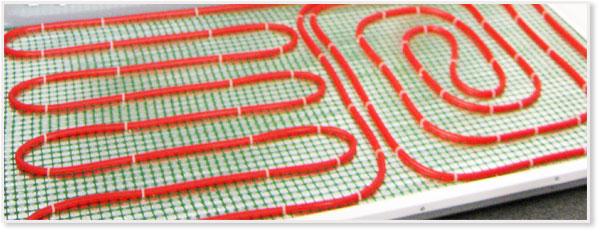пример крепежа трубы для теплого пола